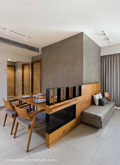 View the full picture gallery of GVLE Apartment Interior, Apartment Design, Dining Room Design, Dining Area, Sofa Design, Furniture Design, Partition Design, Contemporary Apartment, House Beds