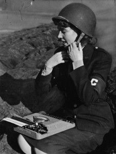 Marguerite Higgins (1920-1966), WWII War Correspondent. American reporter and war correspondent. Higgins covered World War II, the Korean War and the war in Vietnam, and in the process advanced the cause of equal access for female war correspondents. While on assignment in late 1965, Higgins contracted leishmaniasis, a tropical disease that led to her death.