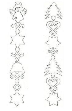 Раскраски трафареты снежинка колоколчик