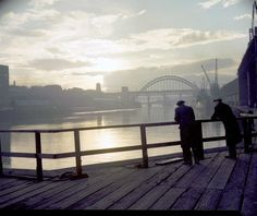 View of the Tyne Bridge, November 1959. Durham City, Great North, North East England, Newcastle Quayside, Liverpool Docks, Northern England, Old London, Old Photos, 1950s
