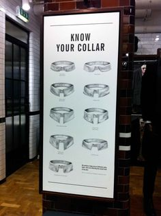 Ben Sherman, Know Your Collar, Illustration, hand drawn, collars, collar styles