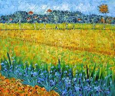 Vincent. Field with Flowers near Arles, 1888