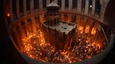 The miracle of the Holy Fire. Worshippers hold candles as they take part in the Christian Orthodox Holy Fire ceremony at the Church of the Holy Sepulchre in Jerusalem Where Is Jesus, Holy Saturday, Holy Land, Album, Old City, Pilgrimage, Photojournalism, Night Life, Fire