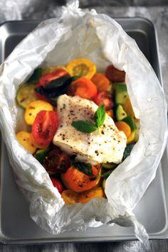 Délices et Caprices: Make me tonight... Papillote de cabillaud, légumes d'été