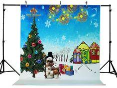LIFE MAGIC BOX Vinyl Snowing Backdrop Snow Background Snow Man Backgrounds for Photo Studio