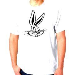 New Custom Screen Printed T-shirt Bugs Bunny Cartoon Small - 4XL