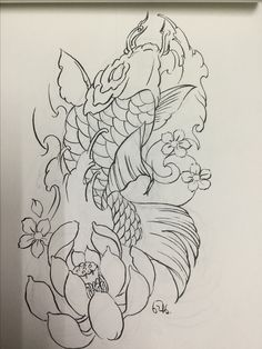 Ikan Koi Tattoo Design, Japan Tattoo Design, Compass Tattoo Design, Japanese Mask Tattoo, Japanese Tattoo Designs, Japanese Sleeve Tattoos, Koi Dragon Tattoo, Koi Fish Tattoo, Koi Fish Drawing