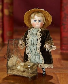 Tiny German All-Bisque Doll wi... Auctions Online | Proxibid