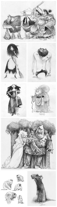 Characters design by Carter Goodrich: