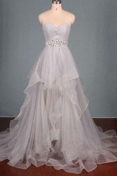 Tulle Prom Dresses,Long Prom Dresses,Evening Dress,Prom Gowns,Custom Made