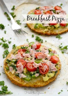 Breakfast Pizzas - Hold the Grain (Egg allergy? sub mashed potato or canned pumpkin for egg).