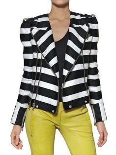 balmain-black-cotton-and-linen-biker-jacket-