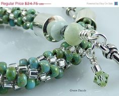 Christmas in July Sale Green Kumihimo by TheLittleEmptyNest