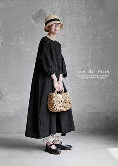 BerryStyle   라쿠텐 일본: Joie de Vivre 프렌치 린넨 와셔 개더 안틱 원피스