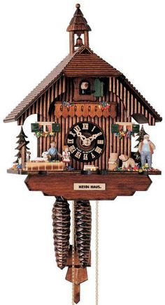 "Hones 11.5"" 1 Day Chalet 1288 Cuckoo Clock"