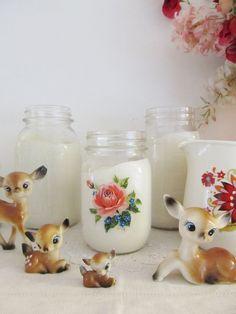 Love the little deer figurines