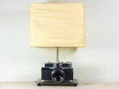 Vintage Camera Lamp made with Ansco rangefinder - Vintage cameras - vintage lamp on Etsy, $99.00