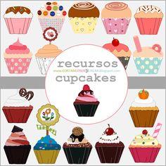 Recursos gratuitos: cupcakes digitales
