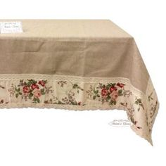 Provencal tablecloths, table runners and country cushions in Shabby Chic style - Mesas Shabby Chic, Style Shabby Chic, Shabby Chic Lamps, Shaby Chic, Shabby Chic Tablecloth, Linen Tablecloth, Table Linens, Tablecloths, Marcos Shabby Chic