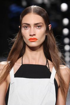 Guido Palau's hair at today's Rag & Bone runway show, with makeup by Gucci Westman. How does he stay fit? #FLYWHEEL #Nevercoast