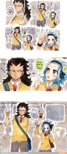 Lol levy and gajeel:D: