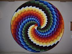 Quilt -- Bargello in the Round Custom Quilts by Marybeth
