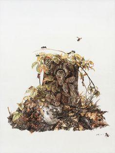 Zhao Na's Elaborate Paintings of Nature | Hi-Fructose Magazine