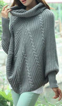 Серый вязаный свитер без рукав  