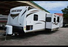Here is our Prime Time Tracer! Travel Trailers For Sale, Rv For Sale, Toy Hauler, Prime Time, Motorhome, Us Travel, Recreational Vehicles, Florida, Outdoor