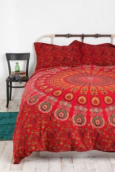 Red Mandala Bedding Set Queen Handmade Duvet Cover with 2 Pillow Covers Indian Mandala Quilt Cover Bohemian Comforter Cover : Red Mandala Bedding Set Queen Handmade Duvet Cover with 2 Pillow Covers Indian Mandala Quilt Cover Bohemian Comforter Cover Bed Sets, Handmade Duvet Covers, Duvet Covers Urban Outfitters, Mandala Duvet Cover, Mandala Comforter, Queen Bedding Sets, Queen Duvet, King Duvet, Comforter Cover
