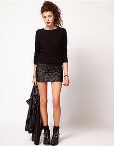 Vero Moda Sequin Mini Skirt