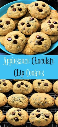 Applesauce Chocolate Chip Cookies are so soft and delightful. There is nothing that compares to a good old fashioned Applesauce Cookie. Oatmeal Applesauce Cookies, Oatmeal Chocolate Chip Cookie Recipe, Chocolate Cookies, Apple Recipes, My Recipes, Cookie Recipes, Favorite Recipes, Low Carb Deserts, Peanut Butter Cookies