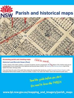 Historical NSW maps in amazing detail ... find your house, se what your town looked like 100 years ago. You do need to find the name of the PARISH (not the same as suburb). The notes will help, and there's a Gazetteer.   http://www.lpi.nsw.gov.au/mapping_and_imagery/parish_maps