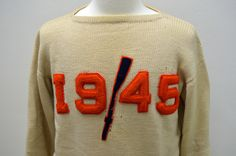 Preppy Vintage Syracuse University 1945 Rowing Crew Varsity Letterman Sweater #PreppySyracuse