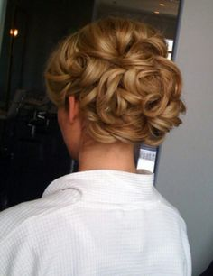 Up-style, which is gorgeous on Wedding ceremoney.