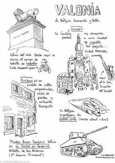 Qué ver en Valonia en Bélgica. Guía rápida Viera, My Drawings, About Me Blog, Diagram, Places, Fotografia