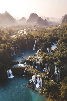 china nature Photo/caption by braybraywoowoo _ quot;Where Vietnam and China meet The journey to this waterfall Laos, Places To Travel, Places To Visit, Photo Caption, Destination Voyage, Beautiful Waterfalls, Vietnam Travel, Visit Vietnam, Travel Photographer