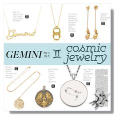 """cosmic jewelry: gemini"" by tabata-sachetti ❤ liked on Polyvore featuring Valentino, BROOKE GREGSON, Olsen, Tory Burch, Belk & Co., Konstantino and Harry Rocks"
