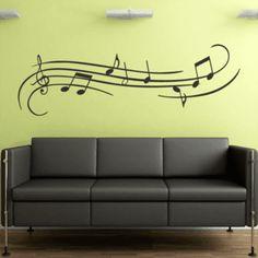 Adesivo de Parede - Notas Musicais - 111ms