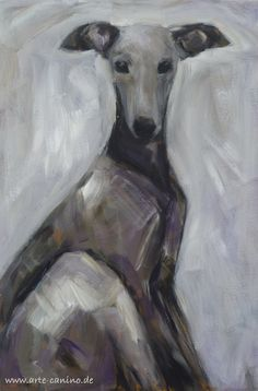 Greyhound, acrylic on canvas, 60 x 40 cm