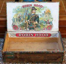 Antique Vintage Old Robin Hood Cigar Box
