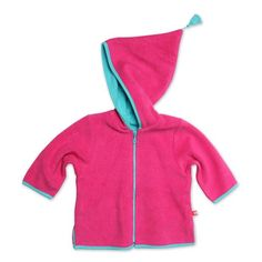 Zutano Infant BabyGirls Cozie Zip Jacket With Hood Fuchsia 12 Months *** Read more at the image link.