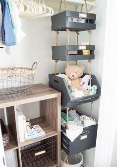Trendy Home Organization Diy Closet Thoughts Ideas Baby Nursery Diy, Baby Boy Rooms, Baby Room Decor, Diy Baby, Nurseries Baby, Nursery Decor, Nursery Storage, Living Room Storage, Girls Room Organization