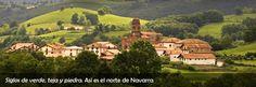 Navarra y la gama de verdes.
