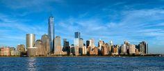 Panoramic Skyline of Lower Manhattan and the World Trade Center - Andrew Prokos - http://andrewprokos.com