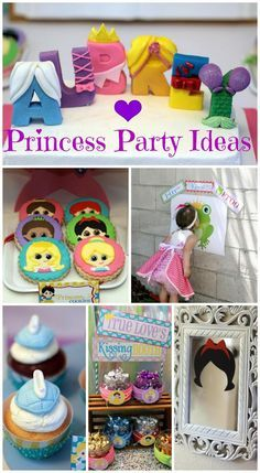 Disney Princess party ideas, awesome cookies and cupcakes for a girl birthday!
