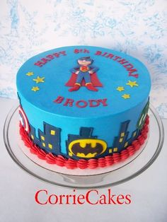 superhero birthday cakes | Superhero Birthday - by Corrie @ CakesDecor.com - cake decorating ...