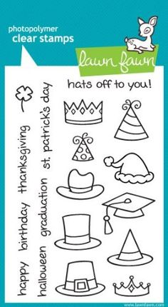 Hats Off To You Clear Stamp Set (Lawn Fawn) Lawn Fawn