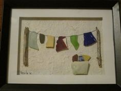 Beach Glass Art Clothesline by lilypadkreations on Etsy, $33.00