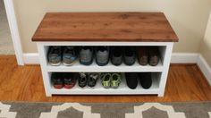 Are shoes cluttering your foyer, mud room, or back hallway?  This Adjustable Shoe Storage Bench can help solve the clutter and add a spot to sit down while deal…